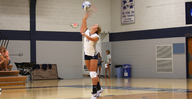 Volleyball Edges Out DeSales, 3-1