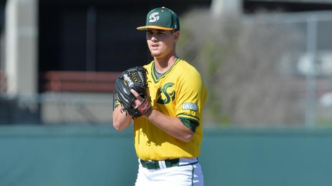 LEITAO PITCHING GEM LEADS BASEBALL PAST CAL POLY 2-0