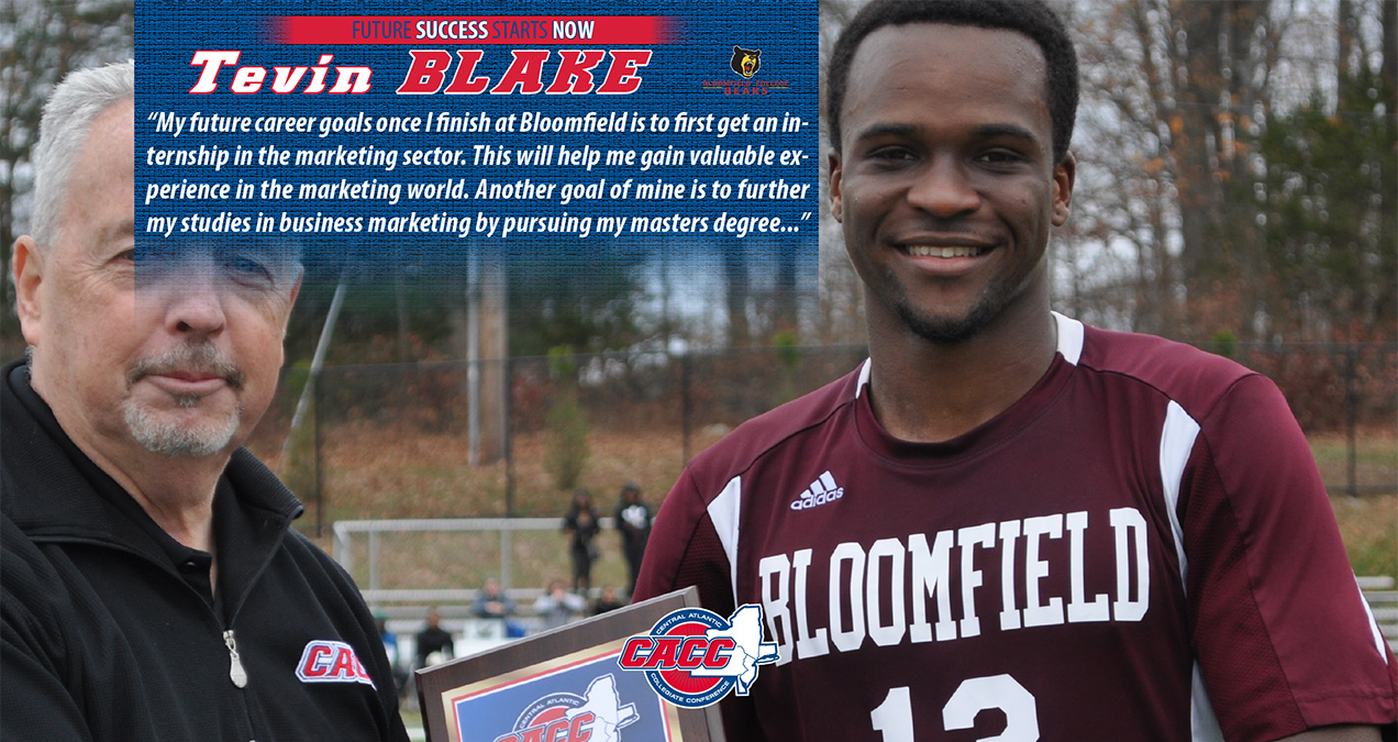 FUTURE SUCCESS STARTS NOW: Bloomfield College's Tevin Blake