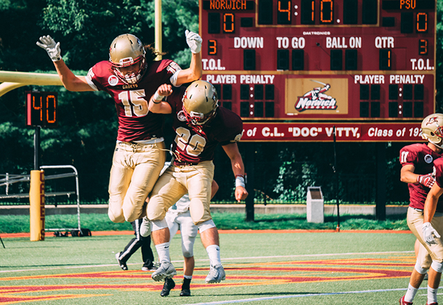 Football celebration vs. Plymouth State