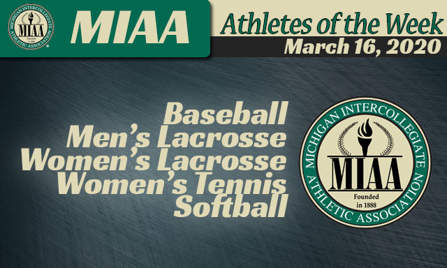 MIAA Athletes of the Week - March 16, 2020