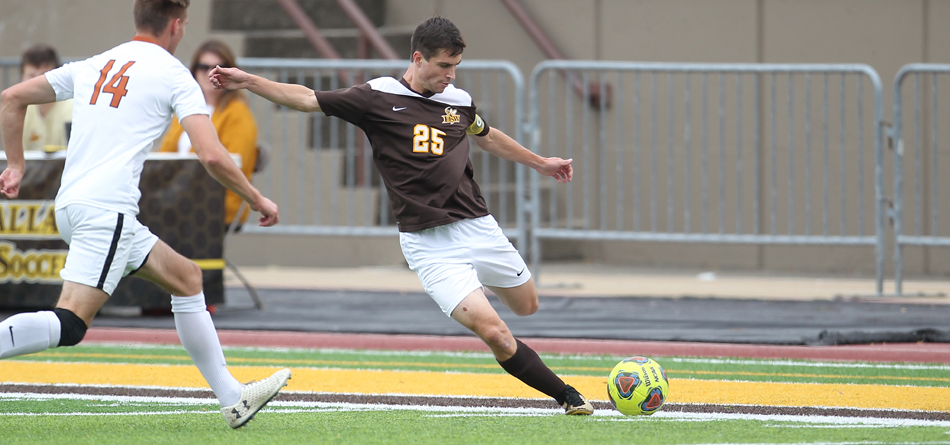 Junior two-time All-OAC and Academic All-OAC forward Danny Ruple scored BW's only goal in a 4-1 loss to Otterbein (Photo courtesy of John Reid)