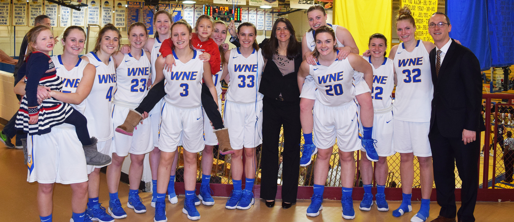 Western New England's 69-63 victory over Gordon on Thursday night marked the 200th of head coach Nicole Chaszar's career. (Photo by Rachael Margossian)