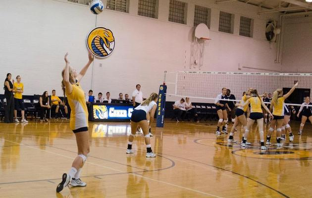 Cobra Women's Volleyball Drops Three Set Match to Lincoln Memorial