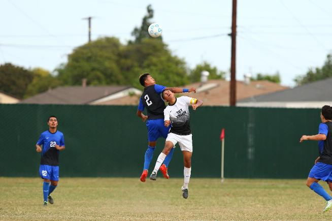 Hector Jimenez (2) helped the Falcons to a 1-1 tie with Taft