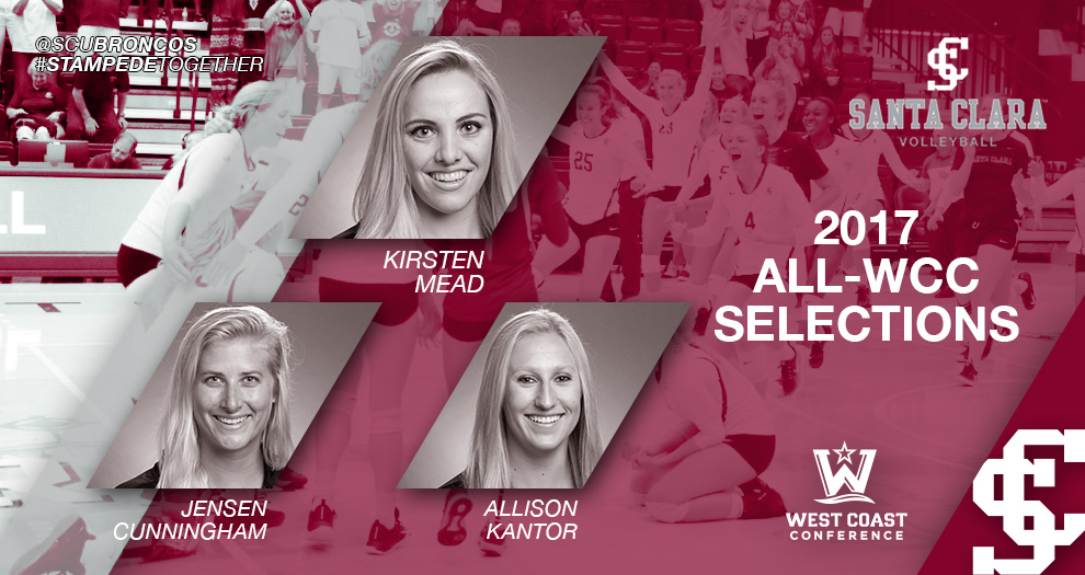 Three Broncos Earn All-WCC Volleyball Honors