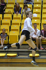 Goc's Double-Double Not Enough as UMBC Volleyball Drops Four-Set Decision to UNH