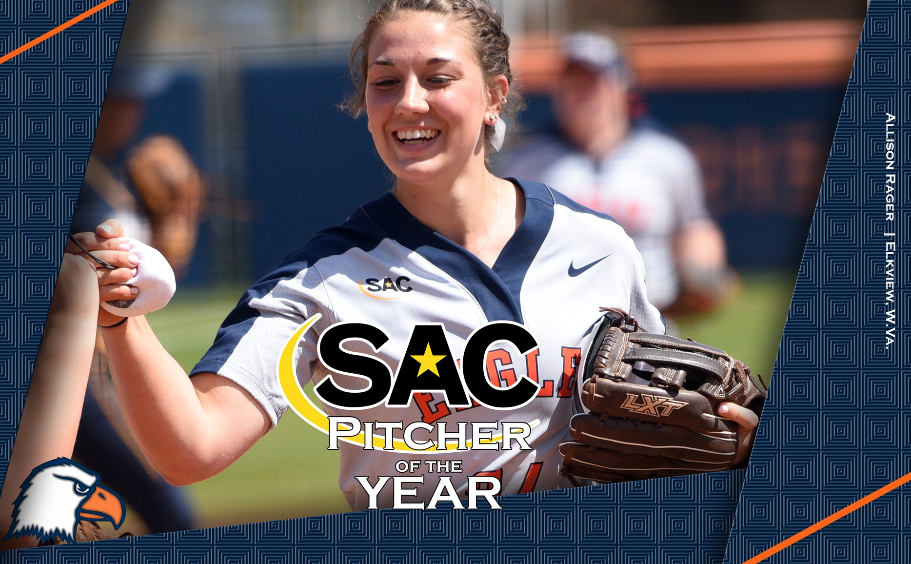 Rager named Pitcher of the Year, four Eagles receive All-SAC laurels