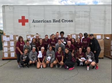 Spartan Field Hockey Visits American Red Cross
