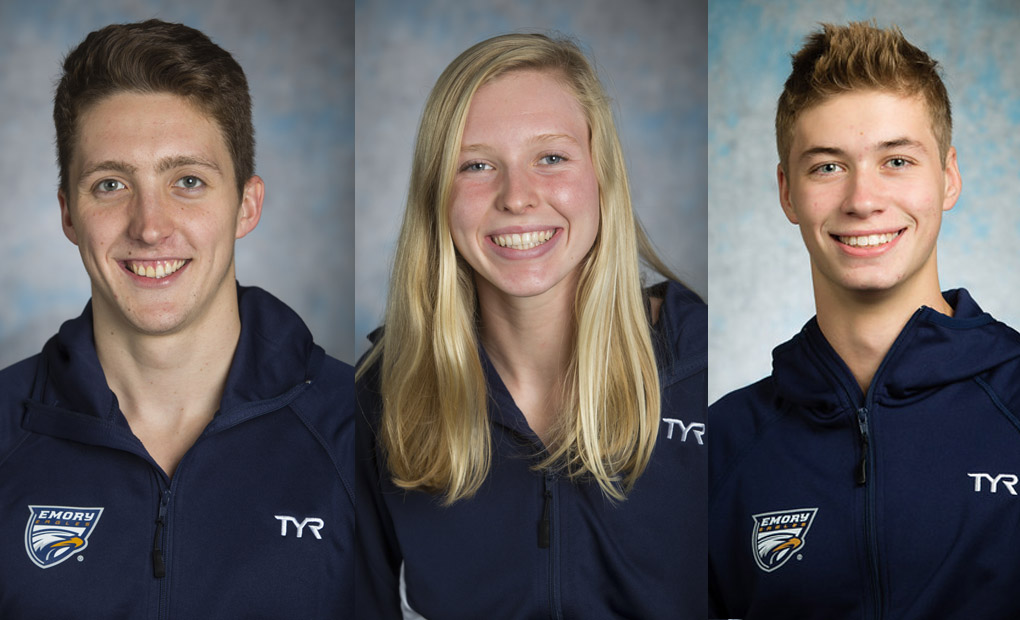Swimming & Diving Trio Collect UAA Weekly Awards