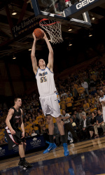 Gauchos Set School Record With 14 Blocks, Beat Cal Poly in Finale, 49-43