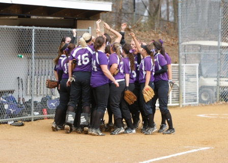 The University of Scranton softball team dropped a pair of games in the Landmark Conference playoffs last week.