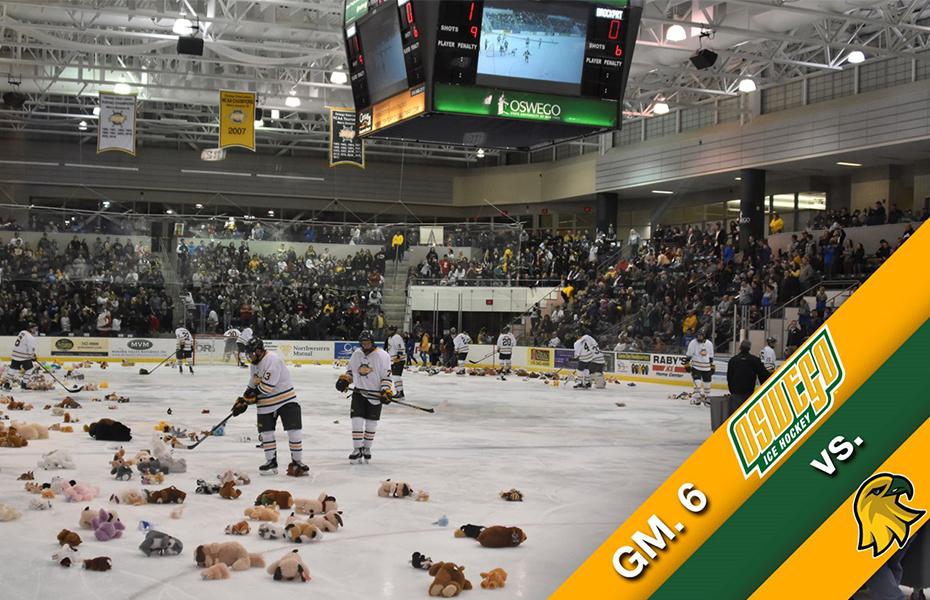 Oswego Ice Hockey to host Bear Toss & Food/Toy Drive