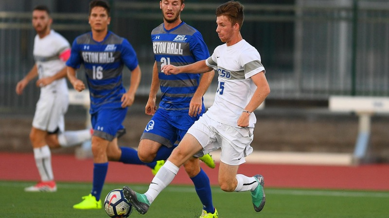 Men's Soccer Falls Late to Seton Hall in Opener