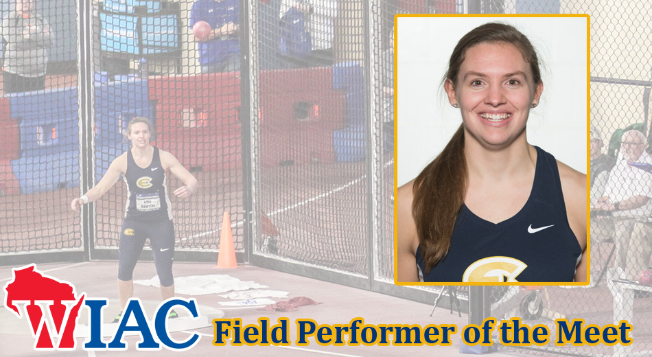 Oawster earns WIAC Field Performer of the Meet honors