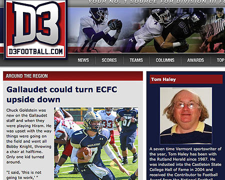 Gallaudet football featured in D3football.com Around the Region Northeast feature