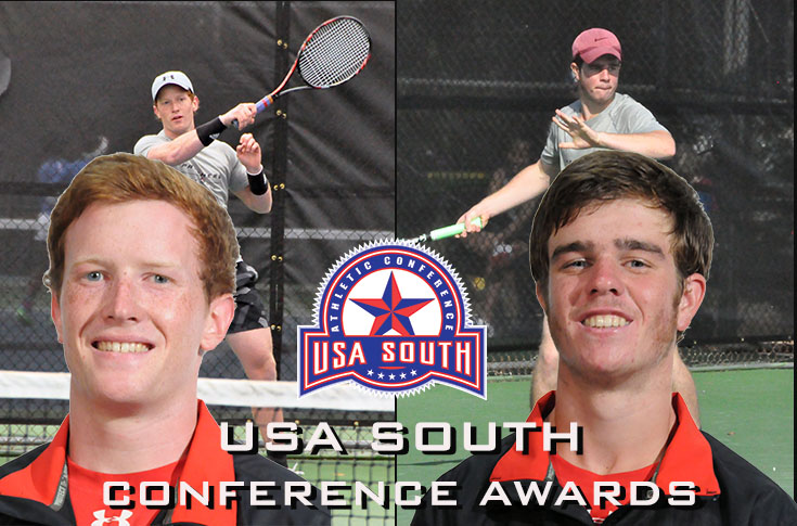 Men's Tennis: Mitchell Corley, Will Thompson named to USA South West Division teams