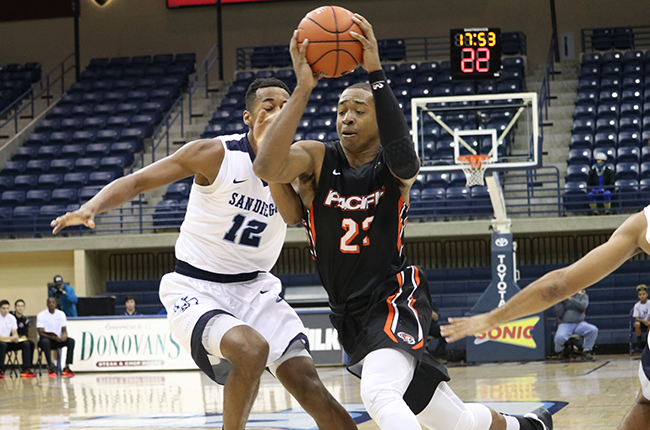 Pacific Holds Off San Diego 56-53