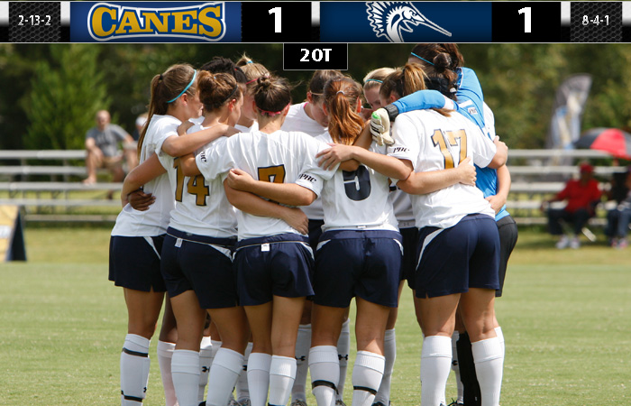 Lady 'Canes Battle Sailfish To 1-1 Tie
