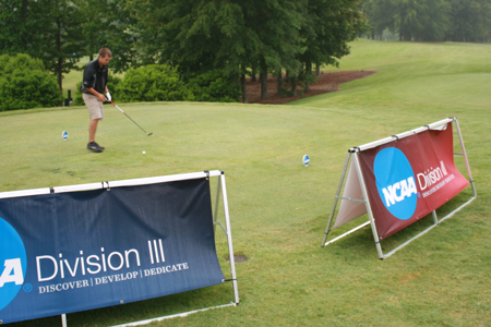 Greg Bowman tees off the third round of the NCAA Championship on Thursday.