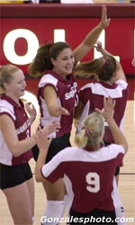 Volleyball Rally Falls Short against California