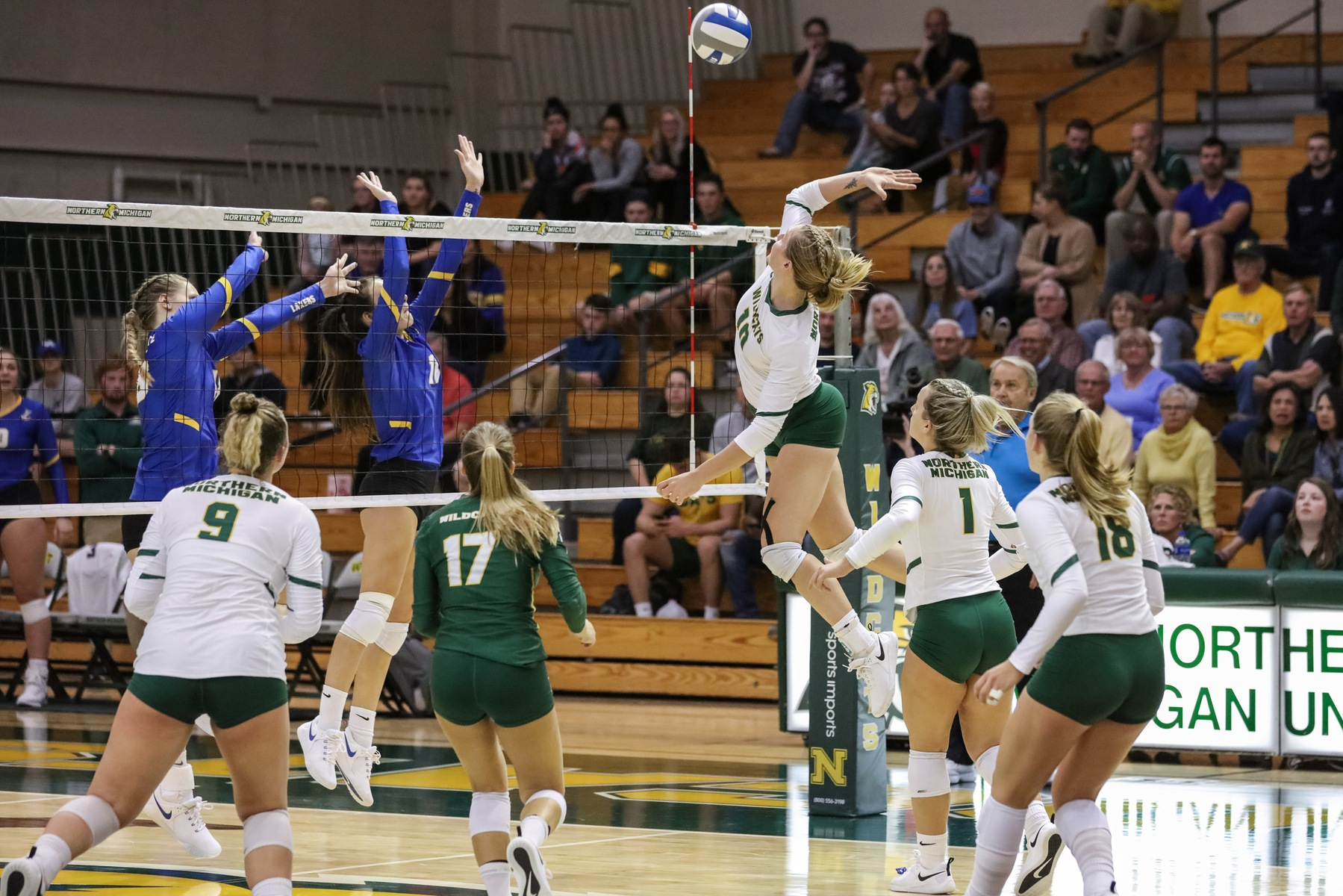NMU Falls in Five Set Thriller with SVSU
