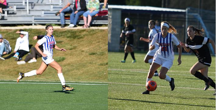 Two Hat Tricks lead Women's Soccer in rout of Warriors