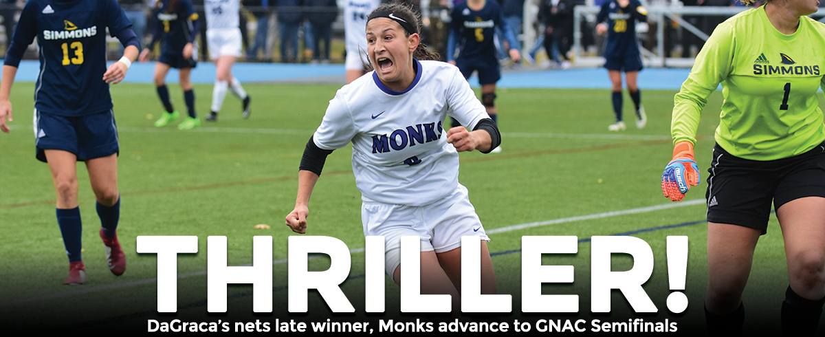 DaGraca Nets Late Game-Winner, Monks Advance to GNAC Semifinals