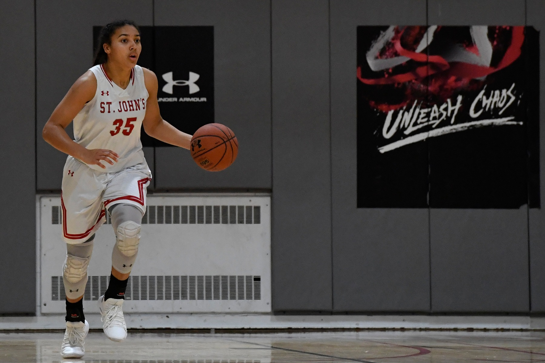 Sophomore Azzi Fudd (shown in and earlier game) leads St. John's to victory over Bishop McNamara.