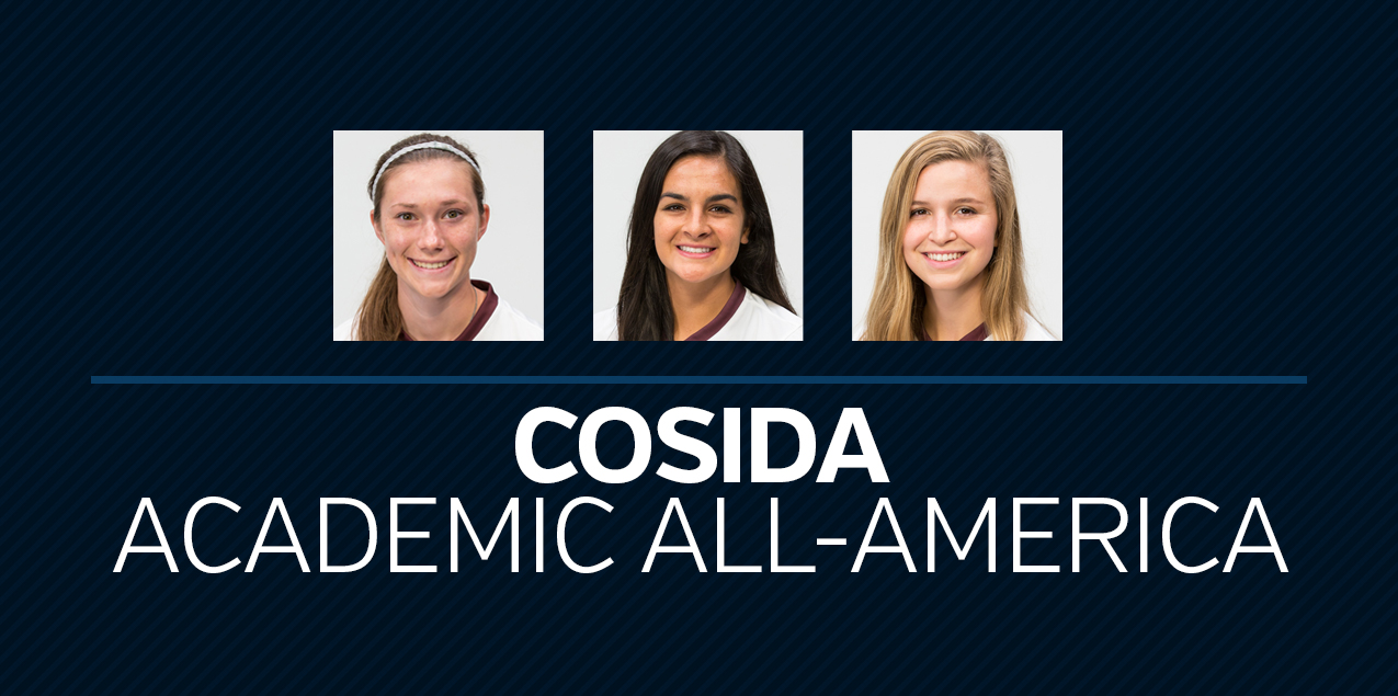 Three Women's Soccer Student-Athletes Earn CoSIDA Academic All-America Recognition