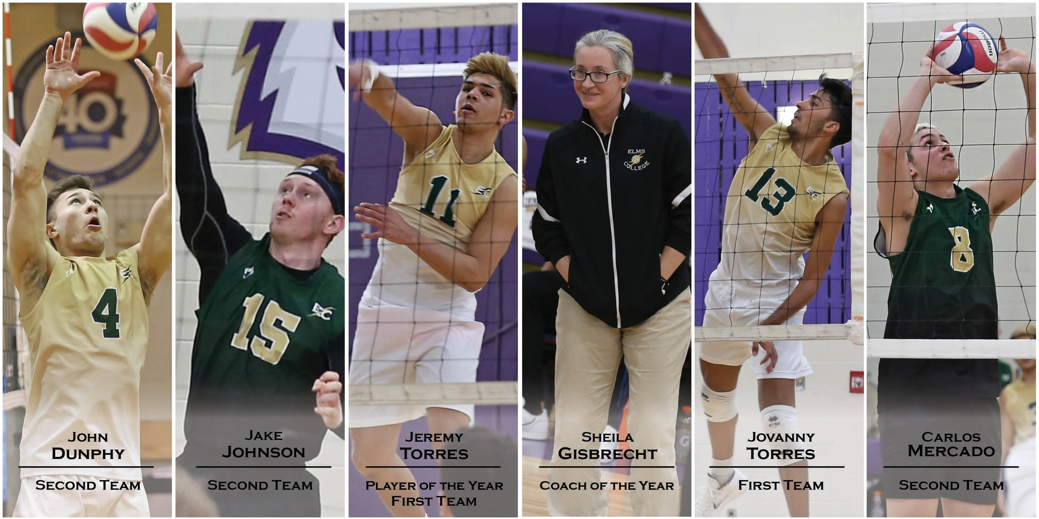 #5 Men's Volleyball Has Six Selected To NECC All-Conference Team