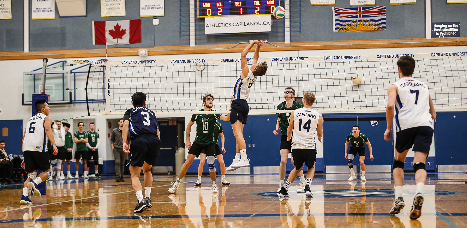 Setter Simon Friesen was named a PACWEST First Team All-Star for the third season in a row. Photo Paul Yates / Vancouver Sports Pictures