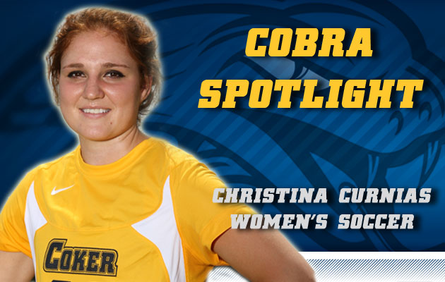 Cobra Spotlight- Christina Curnias, Women's Soccer