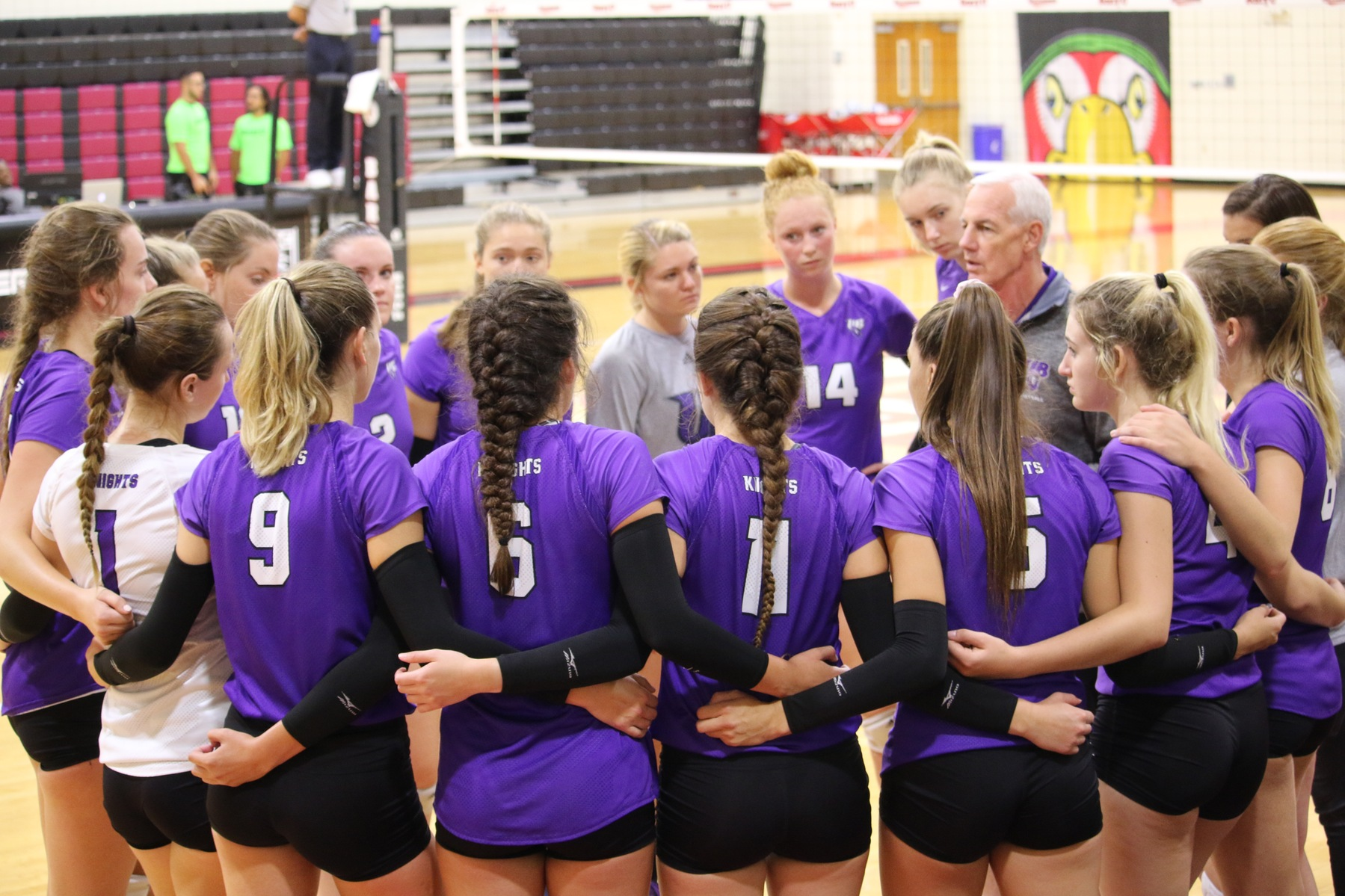 Purple Knights Start Strong But Fall In Four Sets At LIU Post In ECC Volleyball Action