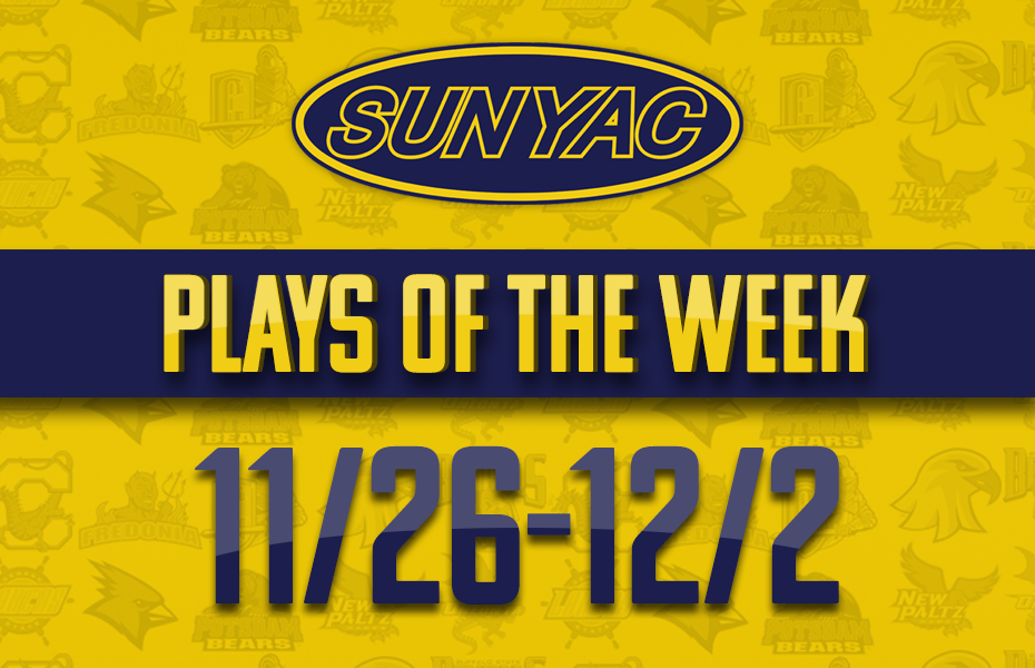 SUNYAC Winter Plays of the Week - Nov. 26-Dec. 2
