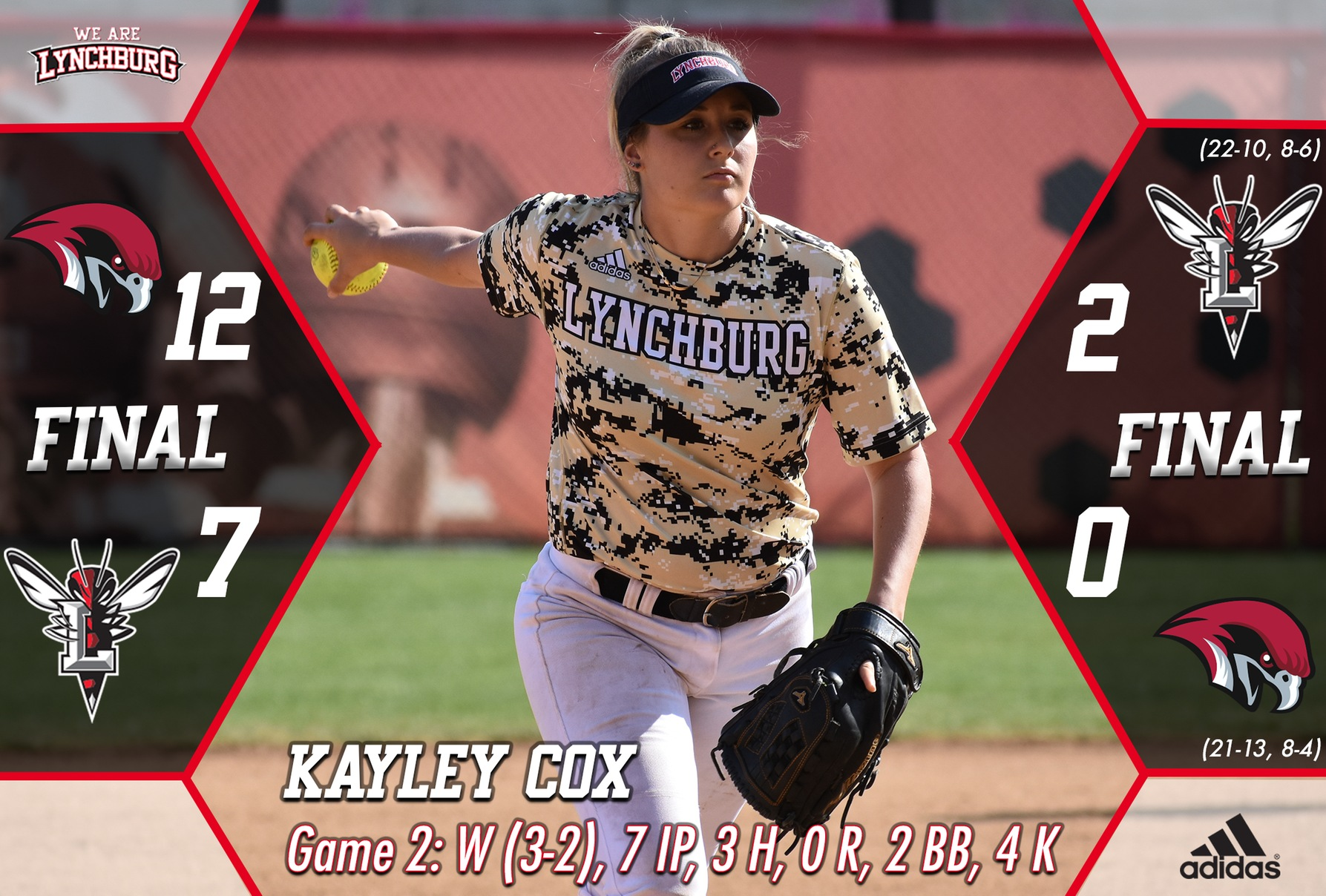 Kayley Cox in the windup.