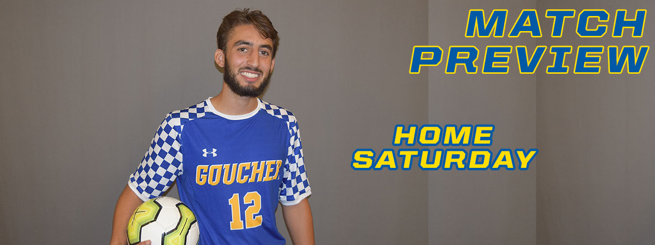 Goucher Men's Soccer Returns Home To Host Immaculata On Saturday Afternoon For Only Game On Campus
