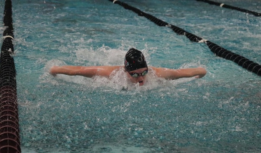 Swimming and Diving Falls to Hope in Season's Last Dual Meet