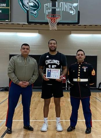 SCTCC looks to continue record-breaking season behind play of USMC Athlete-of-the-Week Torez Kinchen (Baton Rouge, La.)