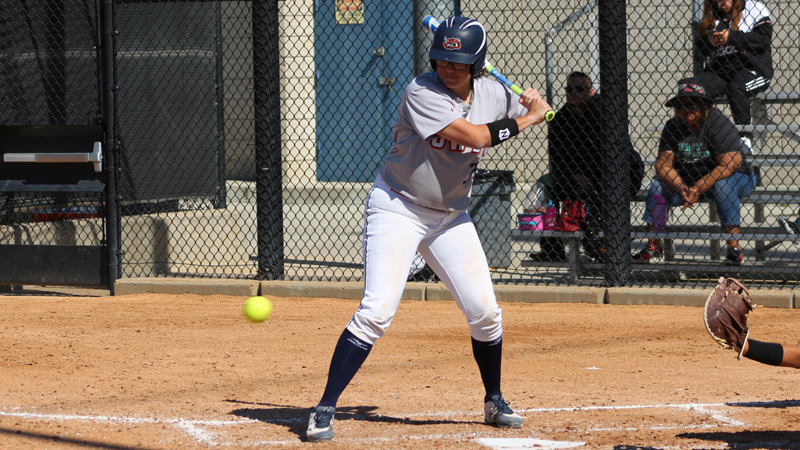 Sophomore Jade Nua was a combined 4 for 4 with four walks and 13 RBIs in Citrus' double-header sweep of Bakersfield College. Photo By: Brian Cone