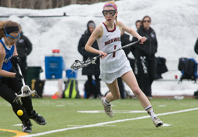 Women's Lacrosse: Guarnieri's Career Day Lifts Norwich Over Rivier