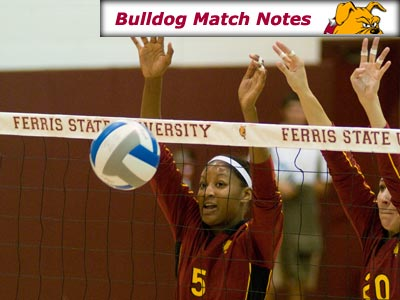 Ferris State Women's Volleyball Weekly Notes (Matches 16-17)
