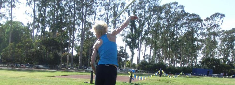 Annett Fleming training at UCSB.
