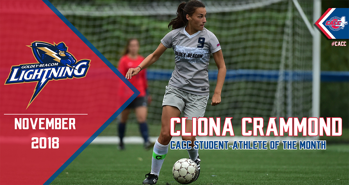 Goldey-Beacom's Cliona Crammond Named CACC Student-Athlete of the Month for November 2018