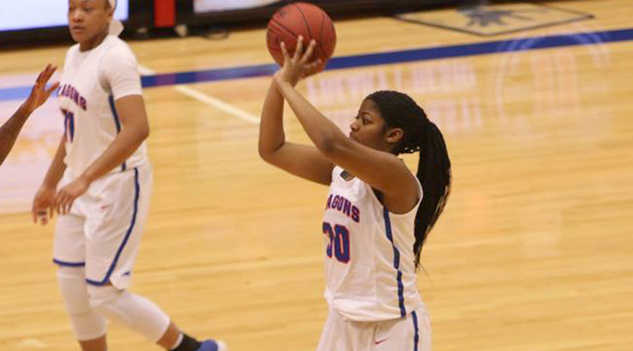 Kayla Barber and the No. 18 Blue Dragons take on Dodge City at 5:30 p.m. on Saturday at the Sports Arena. (Joel Powers/Blue Dragon Sports Information)