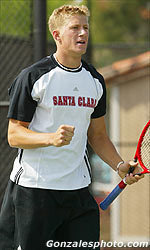 Kochanski Clinches Men's Tennis' 10th Win of Season