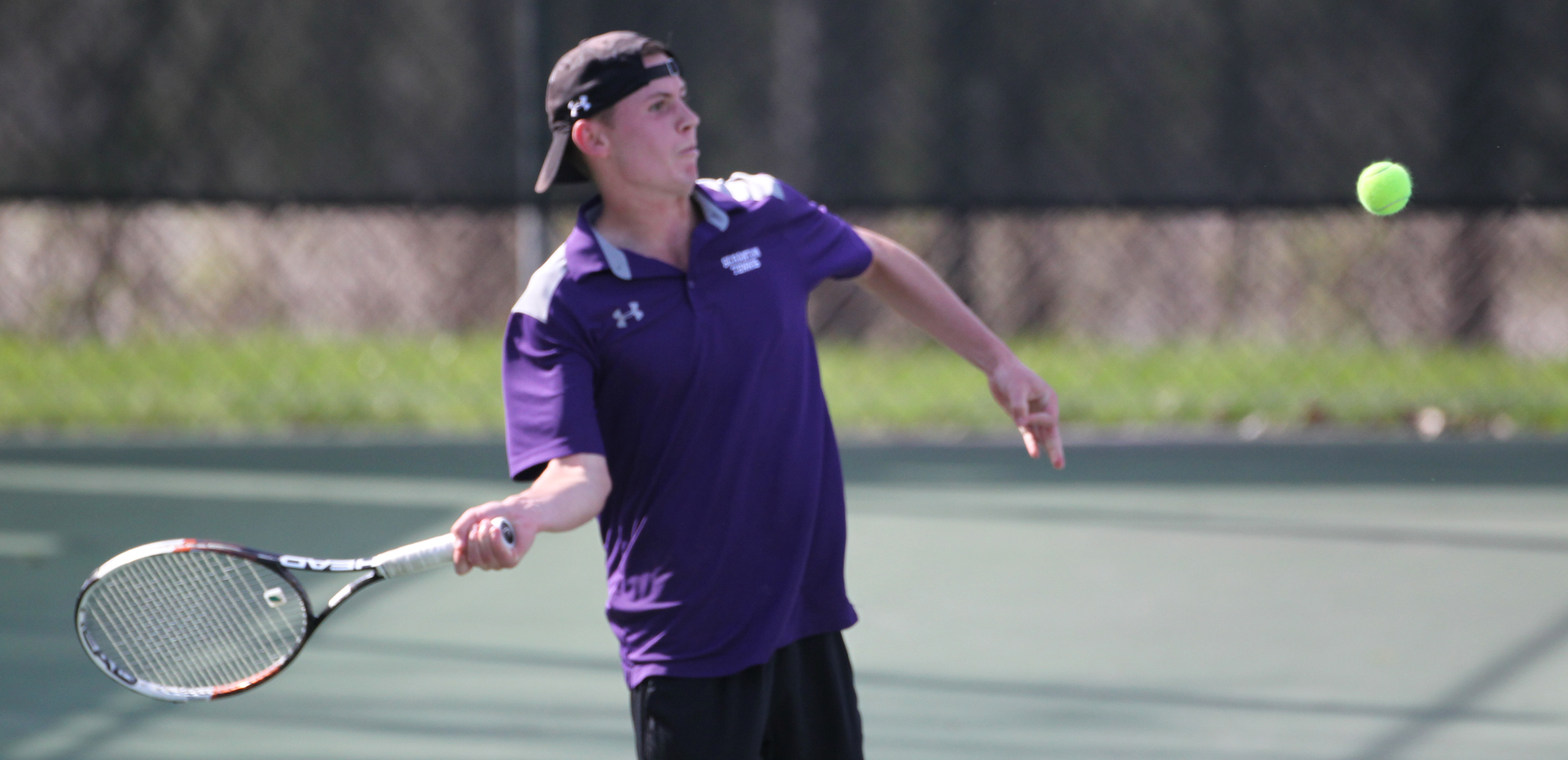 Senior Alexander Ochalski was one of four two-time winners on the day for the men's tennis team, as they rolled to an 8-1 win at Catholic on Saturday.