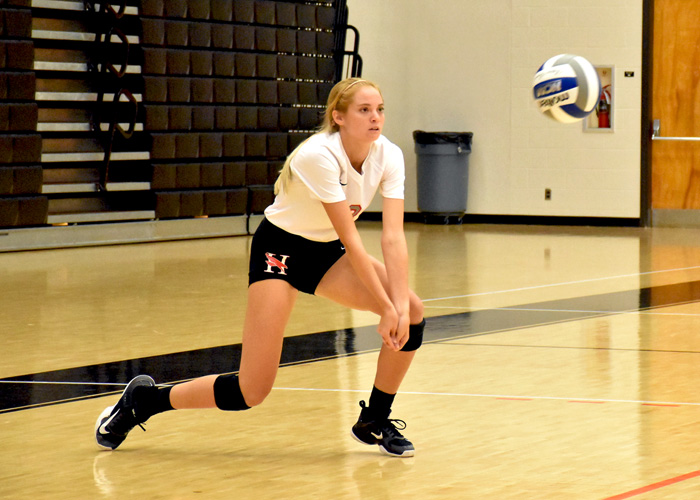 Nichole LeFevre had a team-high 18 digs and three aces in Tuesday night's win over LaGrange.