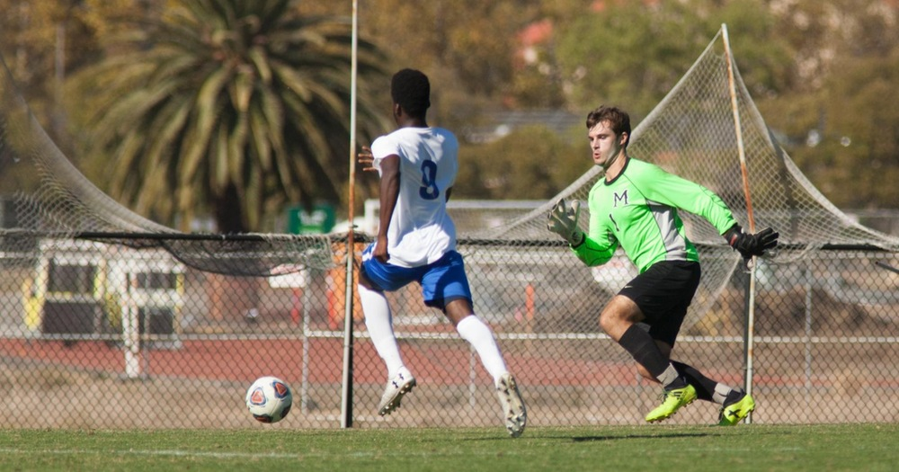 COM Men's Soccer Blanked At Merritt College 2-0