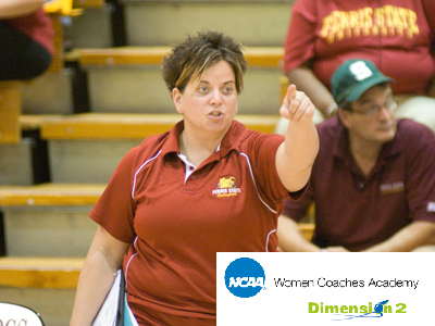 FSU assistant volleyball coach Theresa Beeckman to speak at NCAA Women Coaches Academy Program.  (Photo by Ed Hyde)